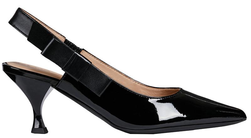 GEOX Pantofi cu toc pentru femei Elisangel Mid Black D92BWA-066KF-C9999 40
