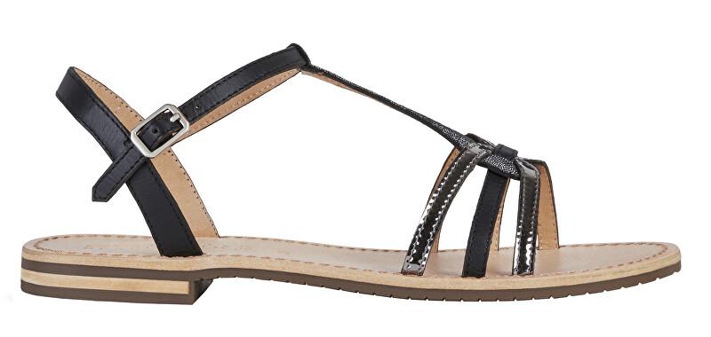 GEOX Dámske sandále D Sozy Black / Gun D022CG-01JMA-C9B1G 40