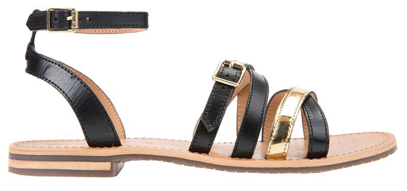 GEOX Dámske sandále Sozy B Black/Gold D822CB-043BN-C0495 39