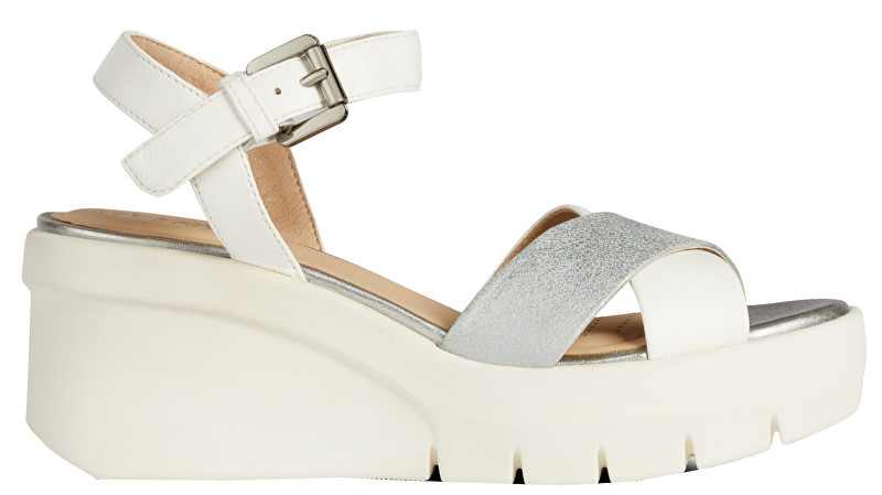 GEOX Sandale pentru femei Torrence B White/Silver D92CPB-0BCBN-C0007 37