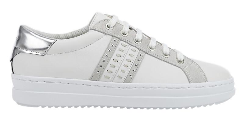 GEOX Dámske tenisky D Pontoise White / Silver D02FED-085BN-C0007 37