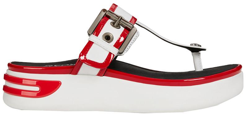 GEOX Flip Flops pentru femei Ottaya Sandal B White/Scarlet D92CMB-08502-C1Z7Y 39