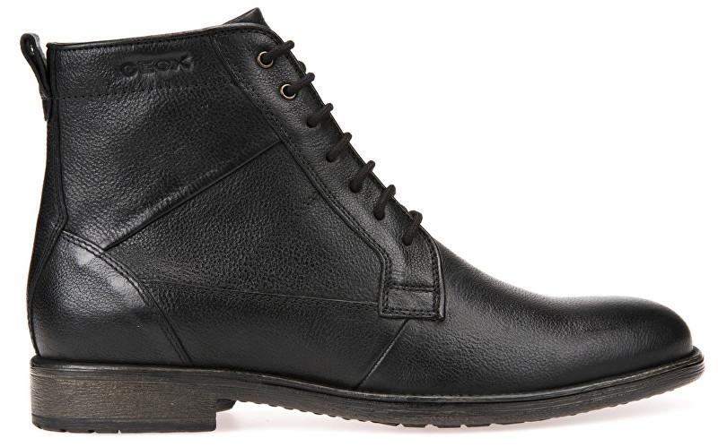 GEOX Pánské kožené boty Jaylon Black U74Y7C-00046-C9999 46