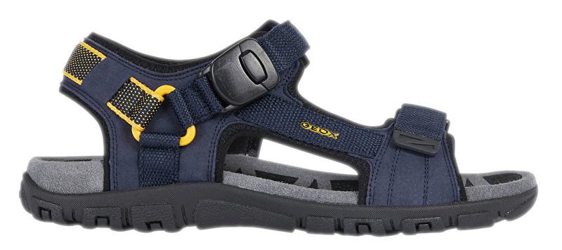GEOX Sandale pentru barbati Uomo Sandal Strada B Navy/Yellow U9224B-000AF-C0657 44