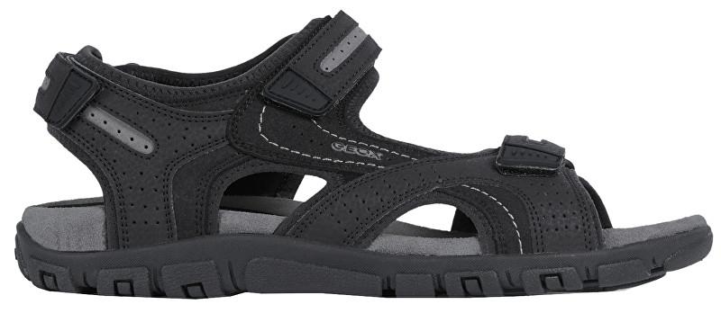 GEOX Sandale pentru bărbați Uomo Sandal Strada D Black/Stone U8224D-050AU-C9310 44