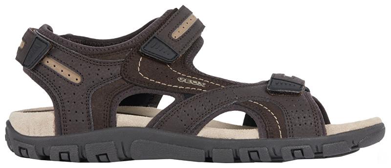 GEOX Sandale pentru bărbați Uomo Sandal Strada D Brown/Sand U8224D-050AU-C0705 44