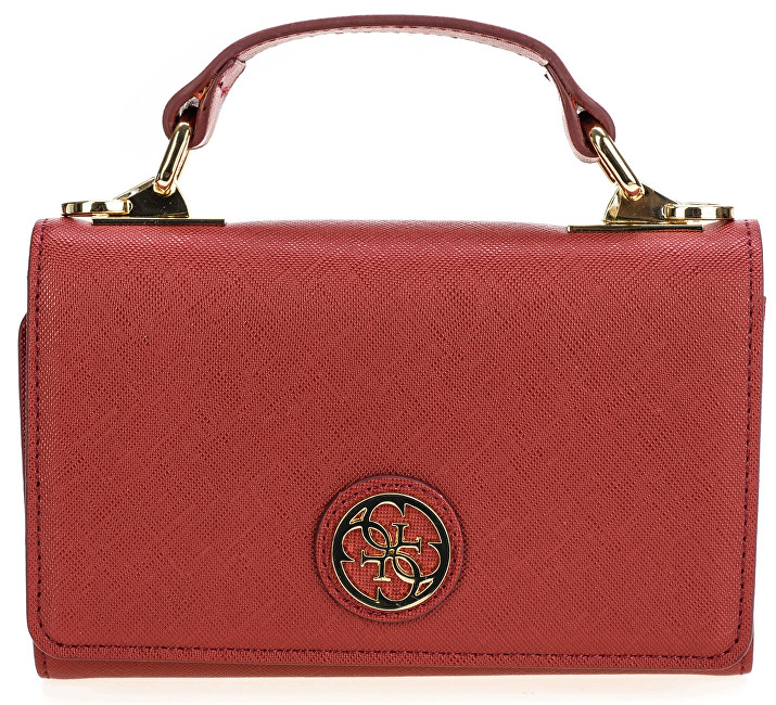 Guess Geantă Cyndy Phone Case Cross-Body Red