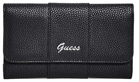 Guess Dámská peněženka Factory Women`s Desmond Slim Wallet Clutch Black