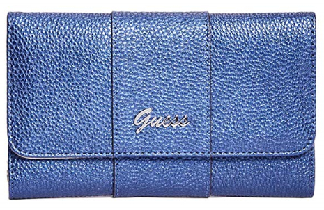 Guess Dámská peněženka Factory Women`s Desmond Slim Wallet Clutch Midnight Blue