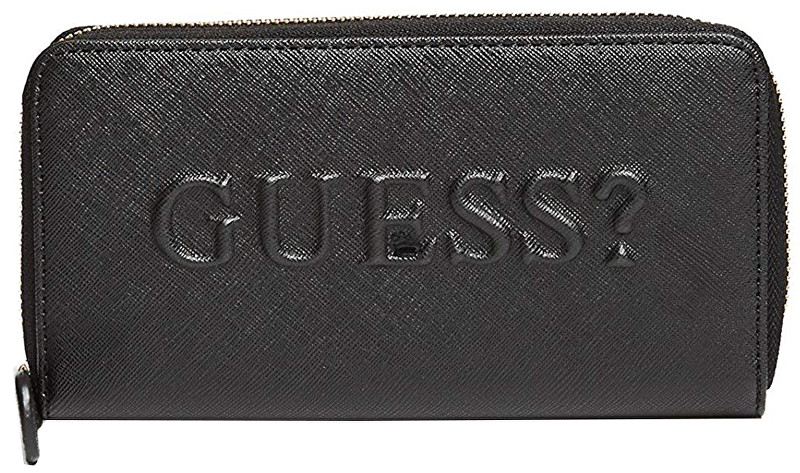 Guess Dámská peněženka Factory Women`s Rigden Zip-Around Wallet Black