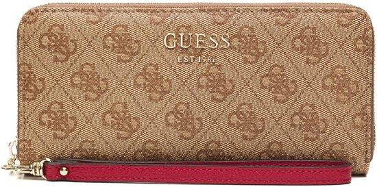 Guess Dámská peněženka Vikky Slg Large Zip Around brown-bro Guess