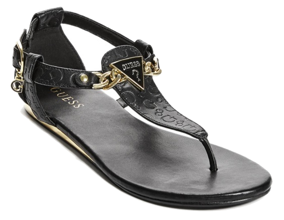 3265d26e496b Guess Dámske sandále GUESS Factory Women`s Sara Logo Sandals Black 37