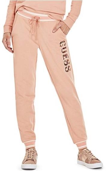 6c6c6d38bc63 Guess Dámske tepláky Factory Women`s Ozzy Sequin Logo Sweatshirt Pink M
