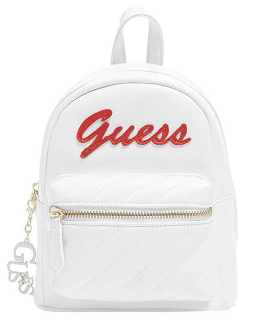 Guess Femei de rucsac Factory Women`s Feliz Logo Convertible Mini Backpack White