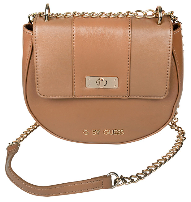 Guess Elegantná crossbody kabelka Estella Saddle Crossbody Brown 05a2980553e