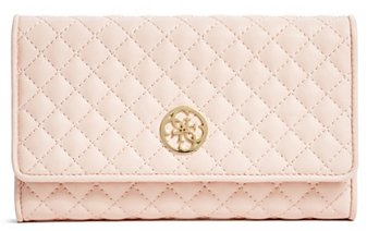 Guess Elegantná peňaženka Classic Quilted Wallet and Pouch Pink