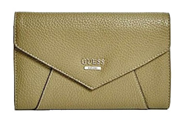 Guess Portofel elegant Gia Pebbled Wallet brown