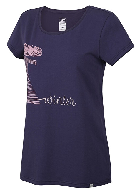 Hannah Dámske tričko s krátkym rukávom SALAMANA Nightshadow blue 40
