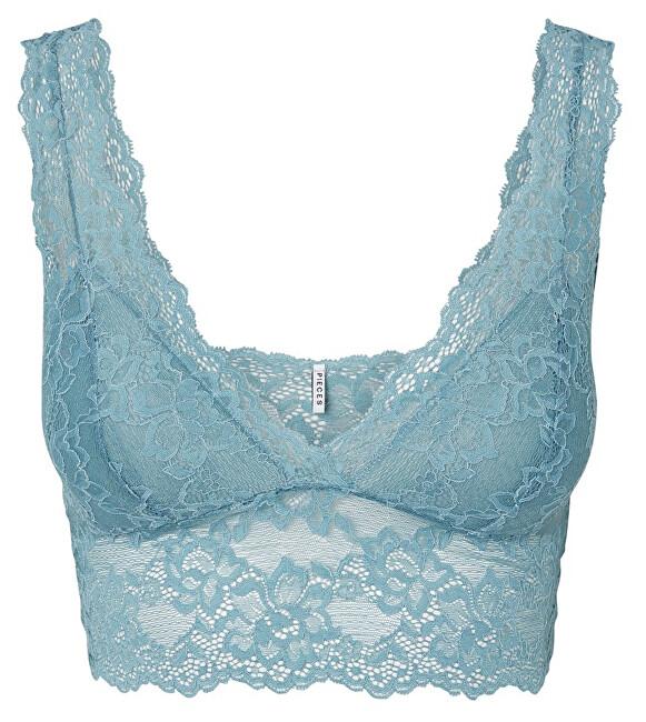 Pieces Sutien pentru femei Lina Lace Sutien Top Noos Smoke Blue XL