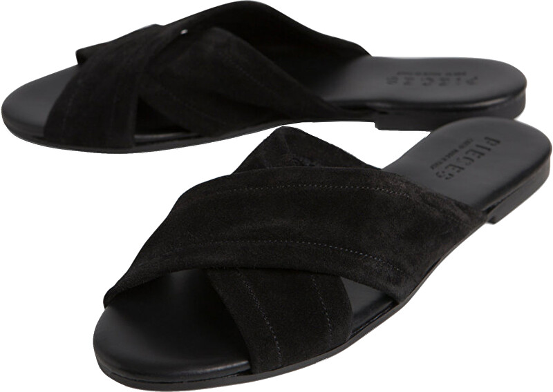 Pieces Shoes Marnie Suede Sandal Black 40