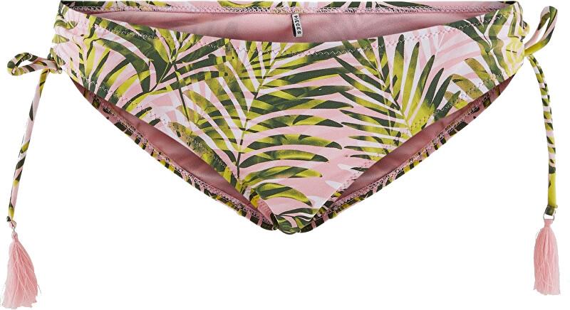 Pieces Dámske plavkové nohavičky PCNIA 17101665 Candy Pink LEAF PRINT M