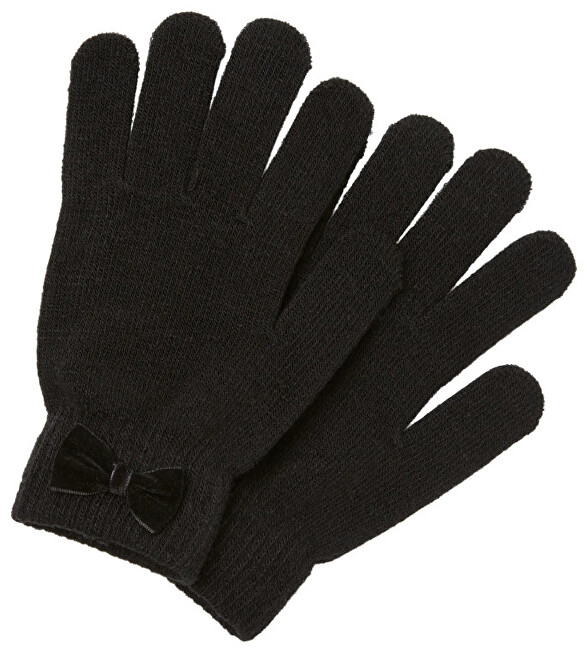 Pieces Dámské rukavice PCNEW BUDDY BOW GLOVE Black