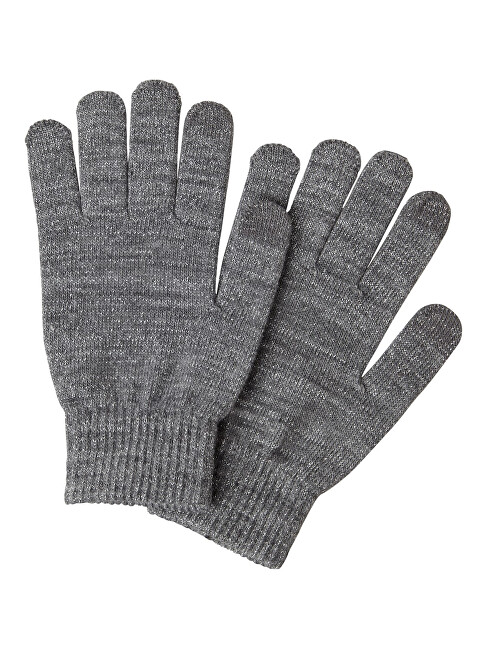 Pieces Dámské rukavice PCRUBI SMART GLOVE Medium Grey Melange