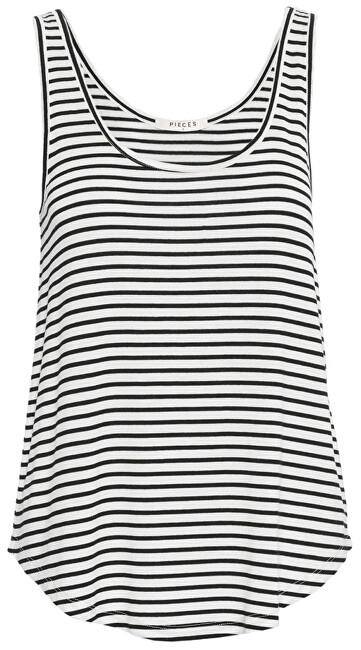 Pieces Dámské tílko Billo Tank Top Noos Bright White Black XL