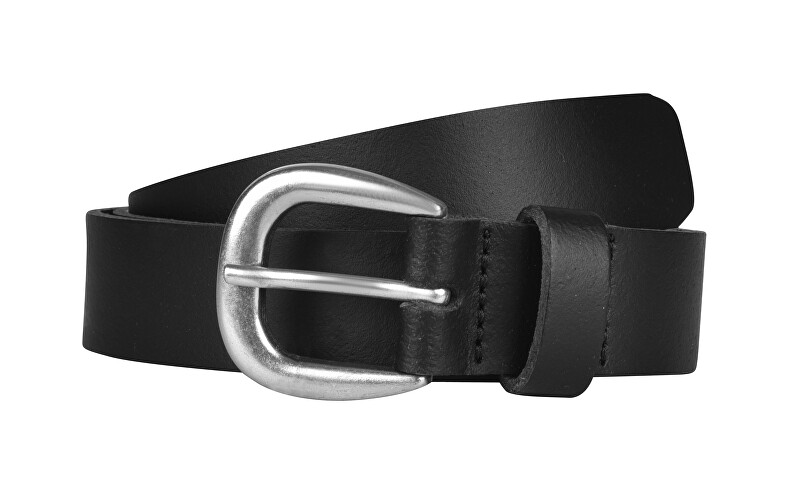 Pieces Dámský kožený opasek Licia Leather Jeans Belt Black 85 cm