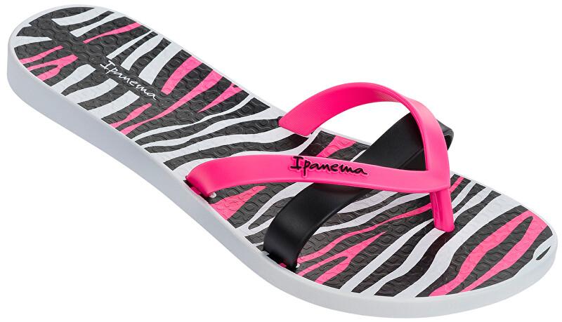 Ipanema Șlapi flip-flops de damă Kirei Silk II 82065-22375 White/Black 38