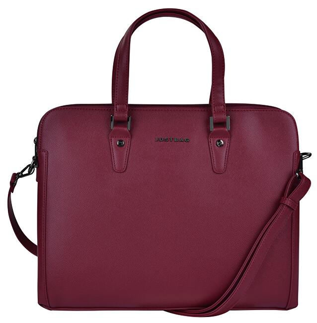 JustBag Dámská kabelka na notebook 3756 Bordeaux