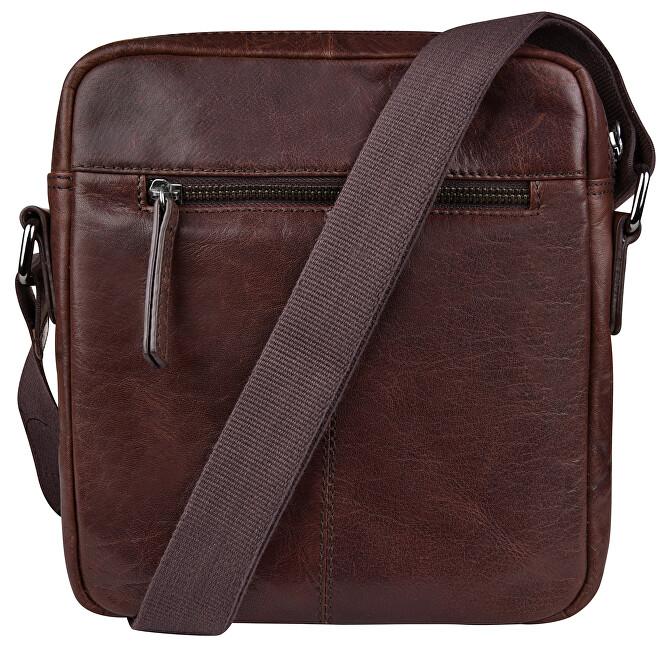 JustBag Pánska kožená taška 2206 Dark Brown