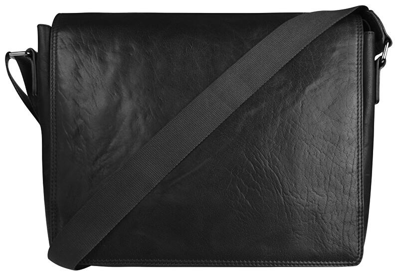 JustBag Pánska kožená taška 40036 Black