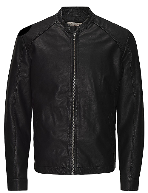 Jack&Jones Pánska bunda Jororiginals Pu Jacket Noos Black S