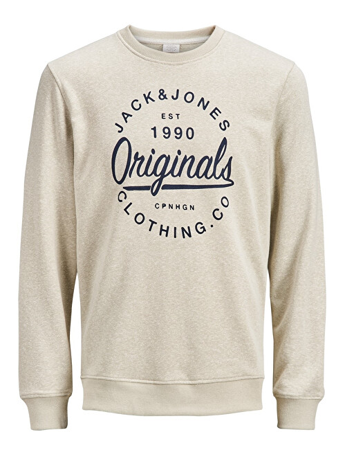 Jack&Jones Pánská mikina Jorbreeze Sweat Crew Neck Feather Gray L
