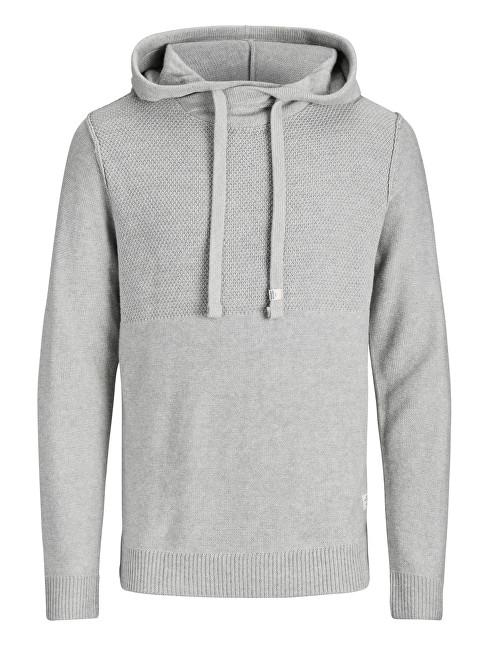Jack&Jones Hanorac pentru bărbați Knit Hood Light Grey Melange XXL