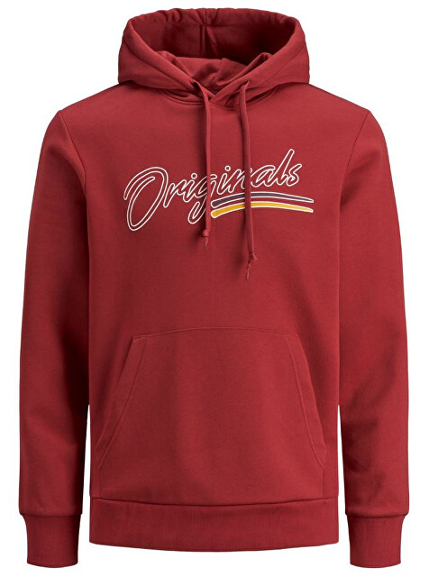 Jack&Jones Pulover de bărbați JORFRANCO SWEAT HOOD Brick Red XL