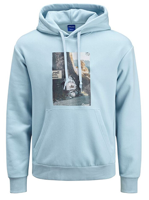 Jack&Jones Hanorac pentru bărbați JORTRAIL SWEAT HOOD Forget-me-not XL