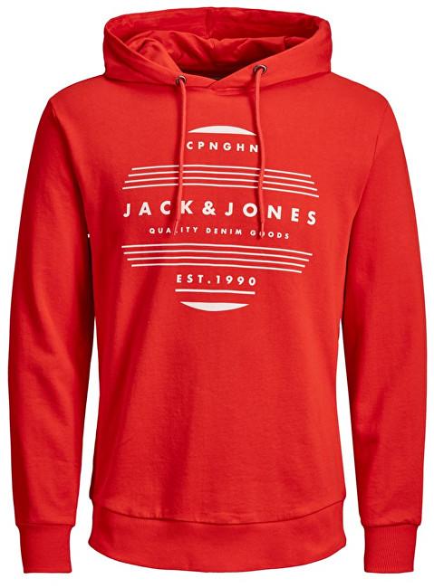 Jack&Jones Hanorac pentru bărbați Rart Chapo Sweat Hood Fiery Red Reg XL