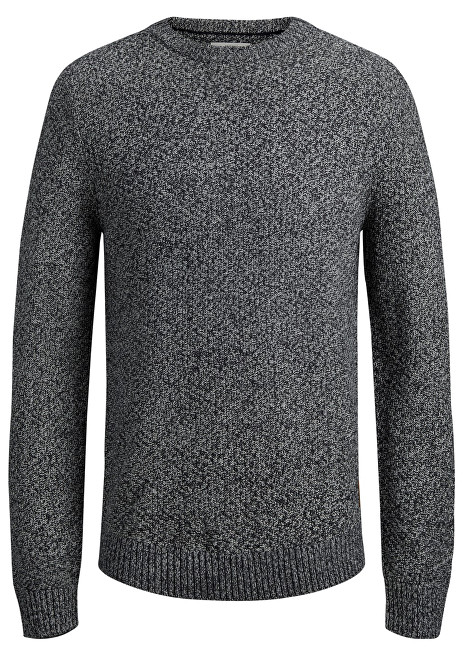 Jack&Jones Pánsky sveter Jordale Knit Crew Neck Light Grey Melange Knit Fit S