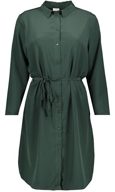 Jacqueline de Yong Dámske šaty JDYPAX Treats 7/8 SHIRT DRESS WVN Scarab 36