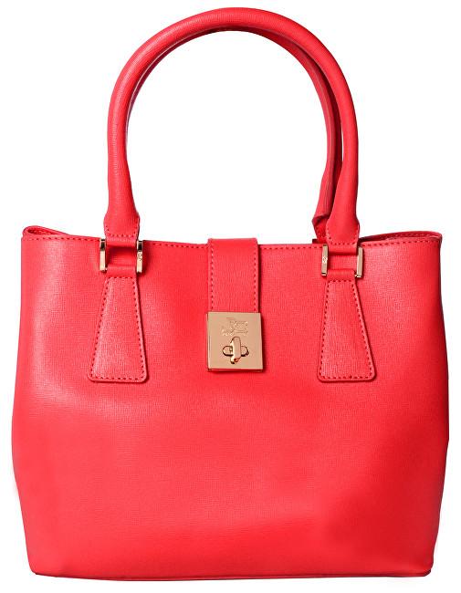 J&C JACKYCELINE Dámská kožená kabelka Borsa Pelle S16B301-09-047 Coral Red