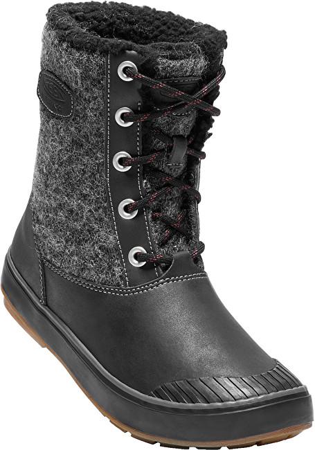 KEEN Dámske topánky Elsa Boot WP Black Wool 37