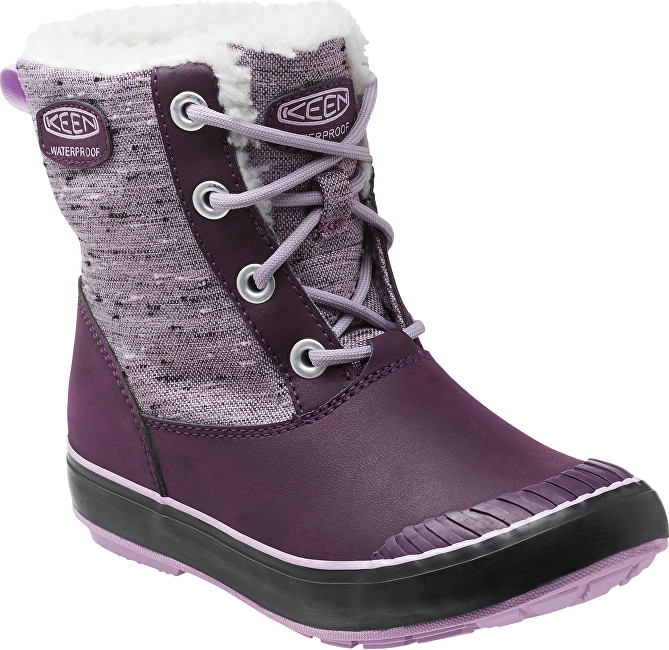 KEEN Junior topánky Elsa Boot WP Plum / Lilac Pastel 37