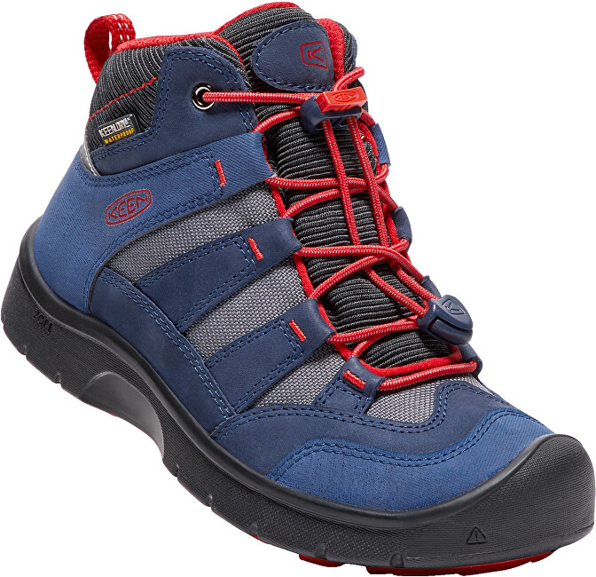KEEN Junior topánky Hikeport Mid Wp dress blues-fire red 36