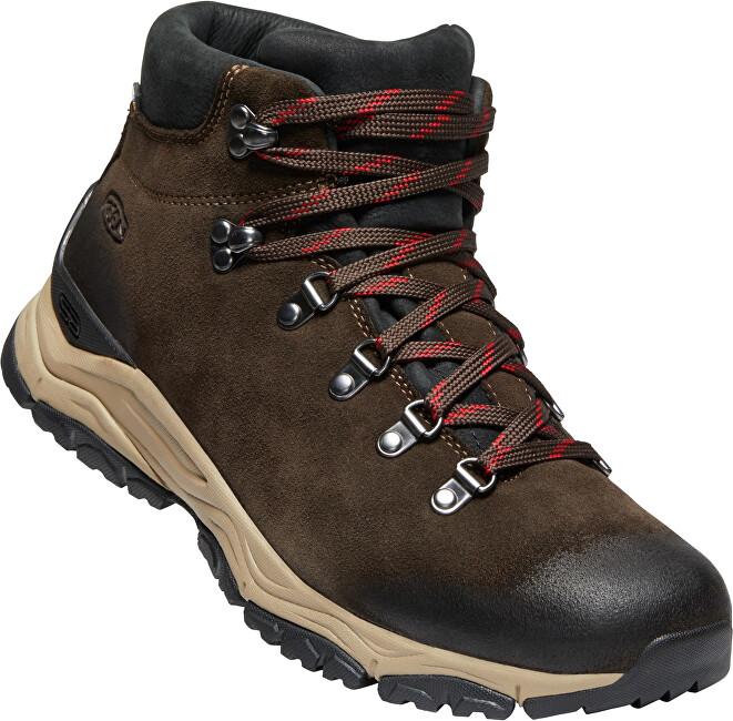 KEEN Pantofi de trekking pentru bărbați Feld Berg Apx Wp M Ebony / Brown 45