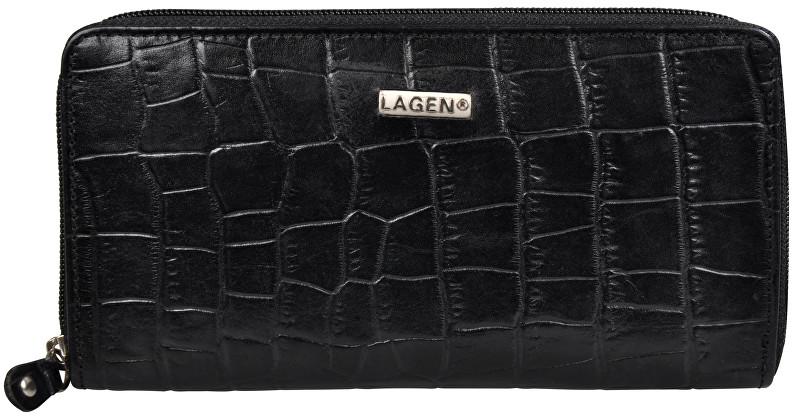 Lagen Dámska čierna kožená peňaženka Black 3771/C-1
