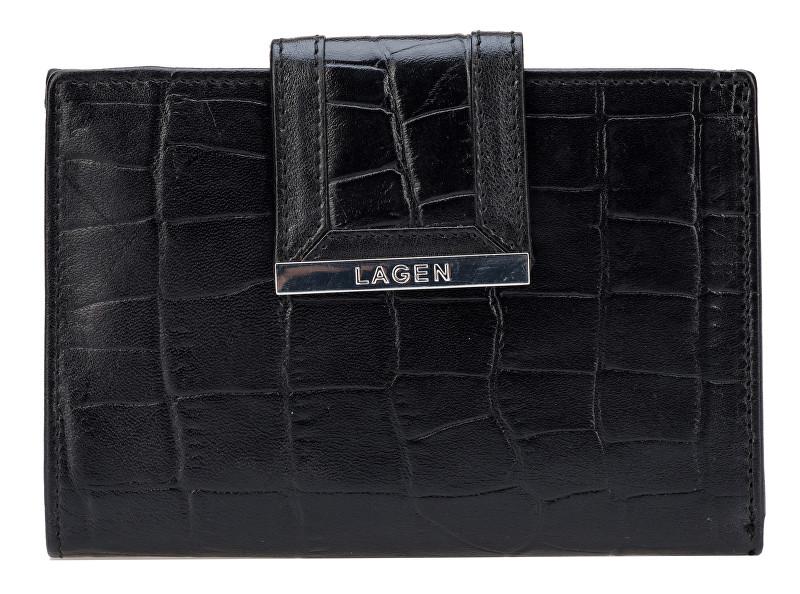 Lagen Dámská černá kožená peněženka Black 61174-1