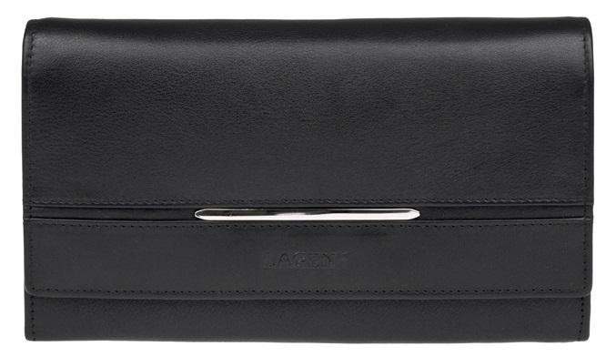 Lagen Dámska černá kožená peňaženka Black 9530