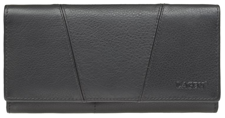 Lagen Dámská kožená peněženka PWL-388/L BLK